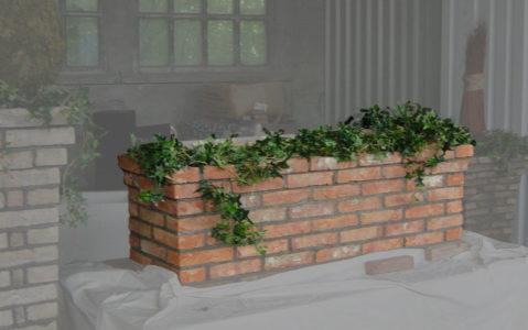 Pflanzentrog liegend gemauert